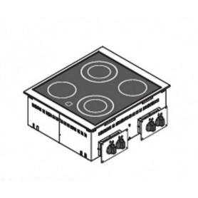 Piano di cottura da incasso. 4 Piastre elettriche in VETROCERAMICA - 8