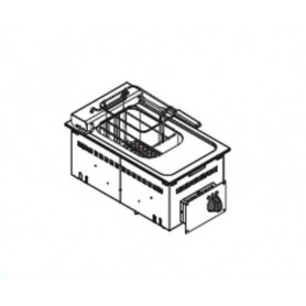 Friggitrice elettrica 8 lt. da incasso - 3 Kw. - Dim.cm. 35x60