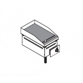 Fry Top elettrico da incasso. Piano cottura liscio - 3 Kw. - Dim.cm. 35x60