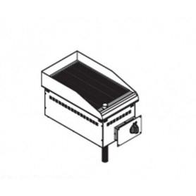 Fry Top elettrico da incasso. Piano cottura rigata - 3 Kw. - Dim.cm. 35x60