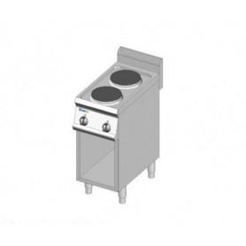 Cucina elettrica a 2 piastre rotonde. Dim.cm. 35x70x85H. - Assorbimento 4 Kw.