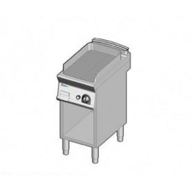 Fry Top elettrico con piano RIGATO. Dim.cm. 35x70x85H. - Assorbimento 3.9 Kw.