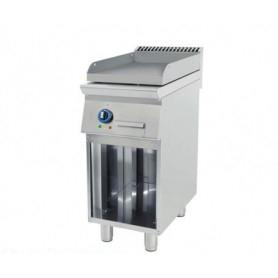 Fry Top elettrico con piano LISCIO. Dim.cm. 40x70x85H. - Assorbimento 5.4 Kw.