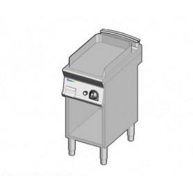 Fry Top a gas con piano LISCIO. Dim.cm. 40x70x85H. - Potenza termica 7 Kw.