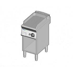 Fry Top a gas con piano RIGATO. Dim.cm. 40x70x85H. - Potenza termica 7 Kw.