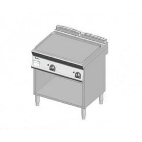 Fry Top a gas con piano LISCIO. Dim.cm. 80x70x85H. - Potenza termica 14 Kw.