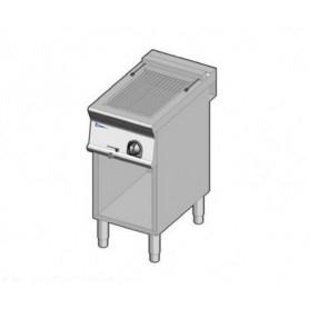 Grill elttrico con acqua e griglia inox. Dim.cm. 40x70x85H. - Assorbimento 5.4 Kw.