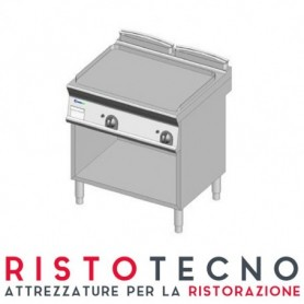Fry Top a gas con piano LISCIO. Dim.cm. 70x70x85H. - Potenza termica 14 Kw.