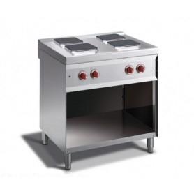 Cucina elettrica a 4 piastre quadrate. Dim.cm. 80x70x85H. - Assorbimento 10.4 Kw.