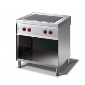 Cucina elettrica con piano cottura in Vetroceramica. Dim.cm. 80x70x85H. - Assorbimento 6.30 Kw.