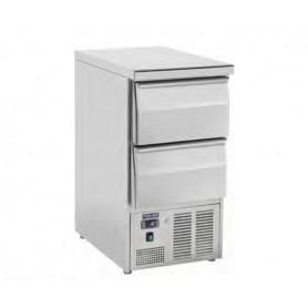 Saladette refrigerata a 2 cassetti. Piano di lavoro inox. 45x70x89H.