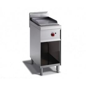 Fry Top a gas con piano LISCIO. Dim.cm. 40x70x85H. - Potenza termica 4.50 Kw.