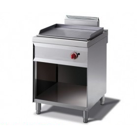 Fry Top a gas con piano LISCIO. Dim.cm. 60x70x85H. - Potenza termica 7.00 Kw.