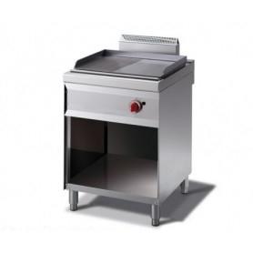 Fry Top a gas con piano ½ LISCIO e ½ RIGATO. Dim.cm. 60x70x85H. - Potenza termica 7.00 Kw.
