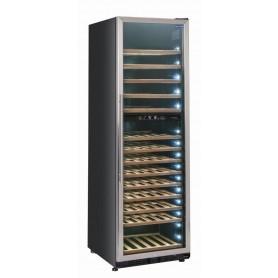 Vetrina refrigerata per vino, capacità 500 lt. (135 bottiglie 0,75 lt.). DOPPIA TEMP. +5°/+12°C * +12°/+22°C