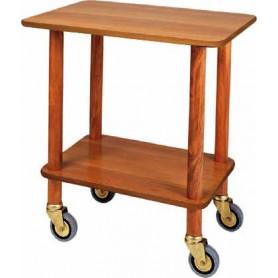 Carrello gueridon in legno a 2 piani. Dim.cm. 70x50x78H