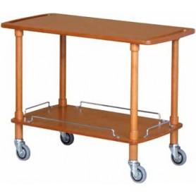 Carrello di servizio in legno. Dim.cm. 110x55x82H