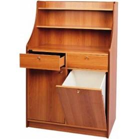 Mobile di servizio in legno a 2 cassetti, 1 sportello ed 1 tramoggia Dim.cm. 95x49x144H