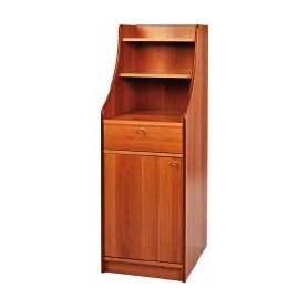 Mobile di servizio in legno ad 1 cassetto e 1 sportello. Dim.cm. 45x49x144H – colore noce