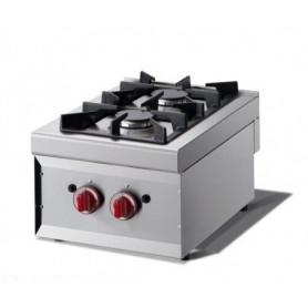 Cucina da banco 2 fuochi. Dim.cm. 40x60x27H. - Potenza termica 7.40 Kw.