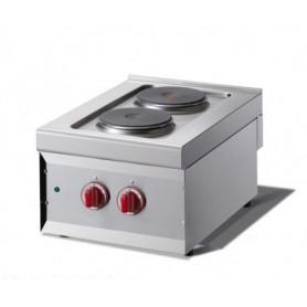 Cucina a 2 piastre Elettrica - Dim.cm. 40x60x27H. - 3.50 Kw.