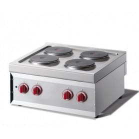 Cucina a 4 piastre Elettrica - Dim.cm. 60x60x27H. - 7.00 Kw.