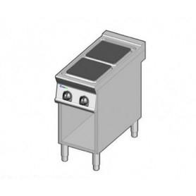 Cucina elettrica 2 piastre. Dim.cm. 40x90x85H. - Kw. 8