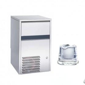 Fabbricatore di ghiaccio a cubetto pieno. Produzione giornaliera 20 Kg - Contenitore 6 Kg.