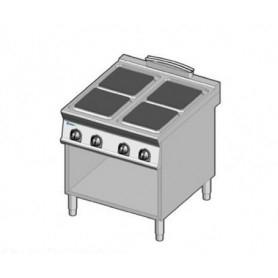 Cucina elettrica 4 piastre. Dim.cm. 80x90x85H. - Kw. 16