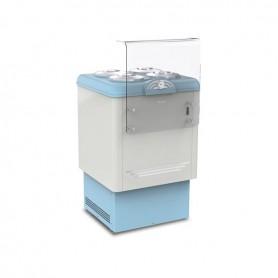 Vetrina refrigerata per Gelato a carapine - Temp. -5°/-20°C - Capacità 4 carapine