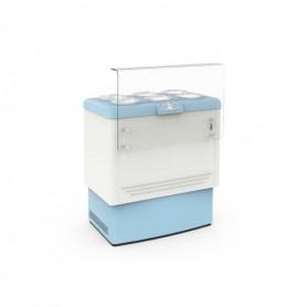 Vetrina refrigerata per Gelato a carapine - Temp. -5°/-20°C - Capacità 6 carapine