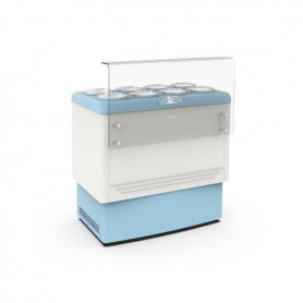 Vetrina refrigerata per Gelato a carapine - Temp. -5°/-20°C - Capacità 8 carapine