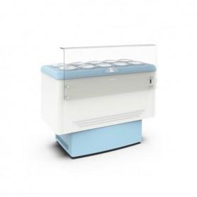 Vetrina refrigerata per Gelato a carapine - Temp. -5°/-20°C - Capacità 10 carapine