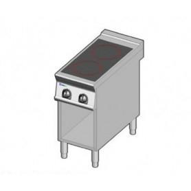 Piano cottura in vetroceramica a 2 zone elettrica. Dim.cm. 40x90x85H. - Kw. 6.80