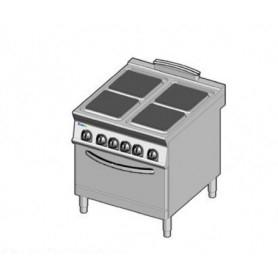 Cucina elettrica 4 piastre con forno elettrico. Dim.cm. 80x90x85H. - Kw. 21.3