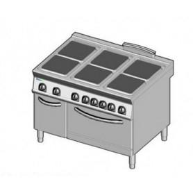 Cucina elettrica 6 piastre con forno elettrico. Dim.cm. 120x90x85H. - Kw. 29.3