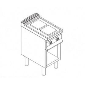 Cucina elettrica 2 piastre. Dim.cm. 40x90x85H. - Kw. 5.2