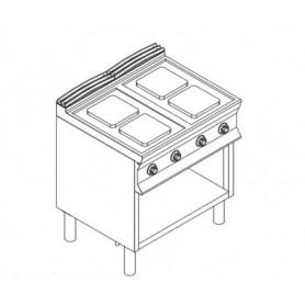 Cucina elettrica 4 piastre. Dim.cm. 40x90x85H. - Kw. 10.4