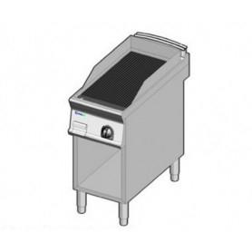 Fry Top a gas con piano di cottura RIGATO. Dim.cm. 40x90x85H.