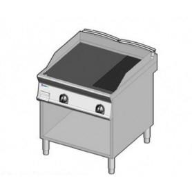 Fry Top a gas con piano di cottura 1/3 RIGATA e 2/3 LISCIO . Dim.cm. 80x90x85H.
