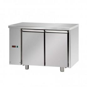 Tavolo Refrigerato 2 porte, 310 Lt. Acciaio inox. -2°/+8°C. - Cm. 120x70x85H. * predisposto per MOTORE REMOTO *