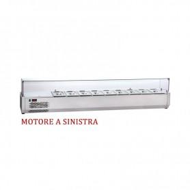 Vetrina refrigerata portacondimenti GN 1/4 - 140x32,7x47,5H. * MOTORE A SINISTRA *