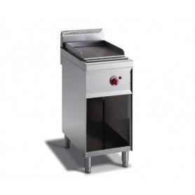 Fry Top a gas con piano RIGATO. Dim.cm. 40x70x85H. - Potenza termica 4.50 Kw.