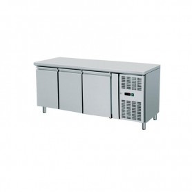 Tavolo Refrigerato 3 porte, 420 Lt. Acciaio inox. -2°/+8°C. - Cm. 179,5x70x85H.