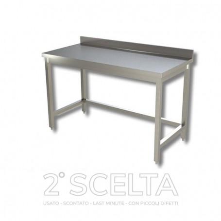 Tavolo inox senza ripiano, con alzatina. Dim.cm. 80x60x85h. *come nuovo*
