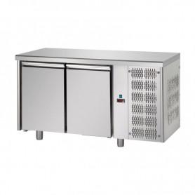 Tavolo Refrigerato 2 porte, 310 Lt. Acciaio inox. -2°/+8°C. - Cm. 142x70x85H.