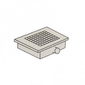 Griglia di scarico a pavimento - scarico laterale - Cm. 30x30x16H