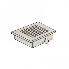 Griglia di scarico a pavimento - scarico laterale - Cm. 40x40x16H