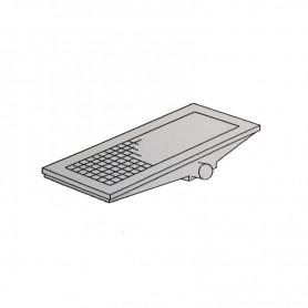 Griglia di scarico a pavimento - scarico laterale - Cm. 100x40x16H