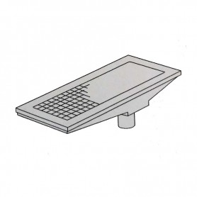 Griglia di scarico a pavimento - scarico a terra - Cm. 80x30x16H